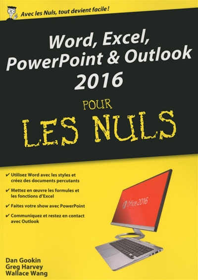 Word, Excel, PowerPoint & Outlook 2016 pour les nuls